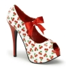 TEEZE-25-3 White/Red Patent